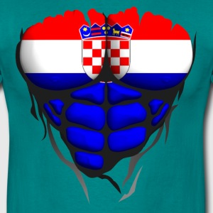 Croatia flag torso muscled body abdominal T-Shirts - Men's T-Shirt