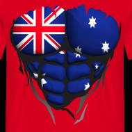 Motif ~ Torse musclé drapeau pays Australie