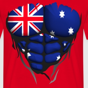 Australia flag torso body muscle abdos T-Shirts - Men's T-Shirt