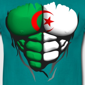 algeria flag torso muscled body abdominal T-Shirts - Men's T-Shirt