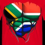 Motif ~ Torse musclé drapeau pays Afrique du sud