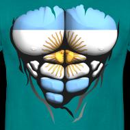 Motif ~ Torse musclé drapeau pays Argentine