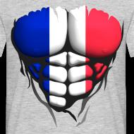 Motif ~ Torse musclé drapeau pays France