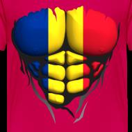 Motif ~ Torse musclé drapeau pays Roumanie