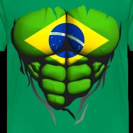 Motif ~ Torse musclé drapeau pays Brésil