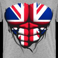 Motif ~ Torse musclé drapeau pays Angleterre