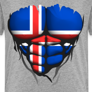 Motif ~ Torse musclé drapeau pays Islande