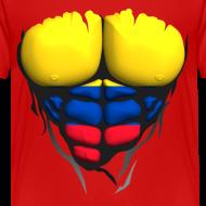Motif ~ Torse musclé drapeau pays Colombie