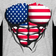 Motif ~ Torse musclé drapeau pays USA etat unis