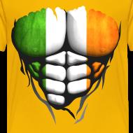 Motif ~ Torse musclé drapeau pays Irlande