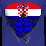 Motif ~ Torse musclé drapeau pays Croatie