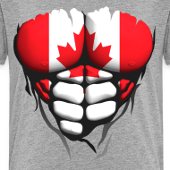 Motif ~ Torse musclé drapeau pays Canada