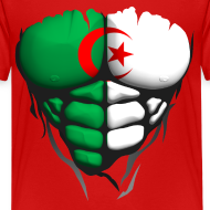Motif ~ Torse musclé drapeau pays Algerie