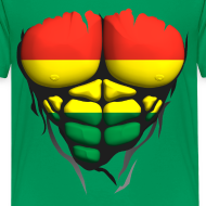 Motif ~ Torse musclé drapeau pays Lituanie
