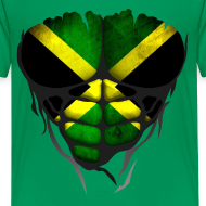 Motif ~ Torse musclé drapeau pays Jamaïque