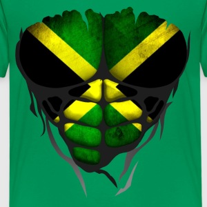 Jamaica flag torso body muscled abdos Shirts - Teenage Premium T-Shirt