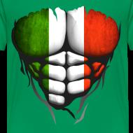 Motif ~ Torse musclé drapeau pays Italie
