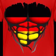 Motif ~ Torse musclé drapeau pays Allemagne