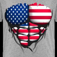 Motif ~ Torse musclé drapeau pays France USA