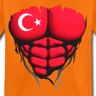 Motif ~ Torse musclé drapeau pays Turquie