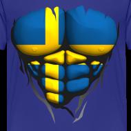 Motif ~ Torse musclé drapeau pays Suede