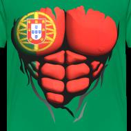 Motif ~ Torse musclé drapeau pays Portugal