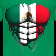 Motif ~ Torse musclé drapeau pays Mexique