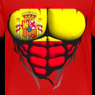 Motif ~ Torse musclé drapeau pays Espagne