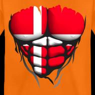 Motif ~ Torse musclé drapeau pays Danemark