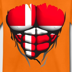 Denmark flag torso body muscle abdo Shirts - Teenage Premium T-Shirt