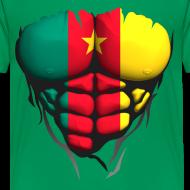 Motif ~ Torse musclé drapeau pays Cameroun