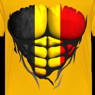 Motif ~ Torse musclé drapeau pays Belgique