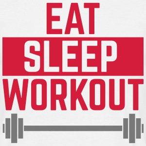 Eat Sleep Workout  Camisetas - Camiseta hombre