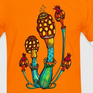 Magic Mushrooms, Psychedelic, Goa, Trance, Rave T-Shirts - Men's Ringer Shirt