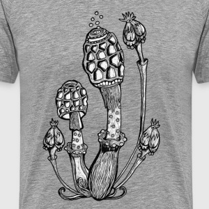 Pilze, Magic Mushrooms, Design, Illustration, Goa T-Shirts - Männer Premium T-Shirt