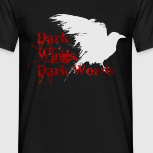 Dark Wings, Dark Words - Men's T-Shirt