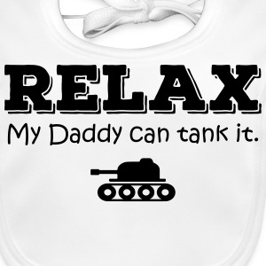 Relax. My daddy can tank it Accessories - Baby Organic Bib