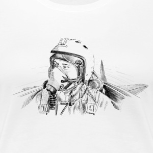 Fighter pilot ru T-Shirts - Women's Premium T-Shirt