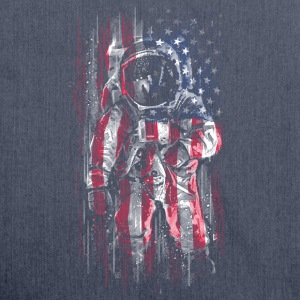 Astronaut Flag Bags & Backpacks - Shoulder Bag made from recycled material