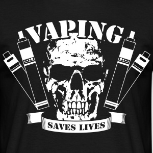 Vaping Saves Lives T-Shirt - Herre-T-shirt