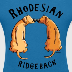 Smiling Rhodesian Ridgeback T-Shirts - Women's V-Neck T-Shirt