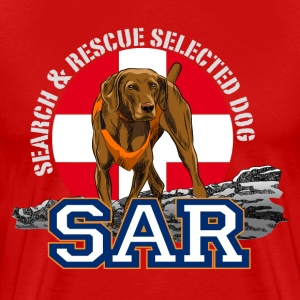 search and rescue dog 1 T-Shirts - Men's Premium T-Shirt
