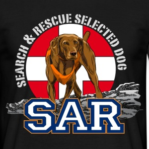 search and rescue dog 1 T-shirts - Mannen T-shirt