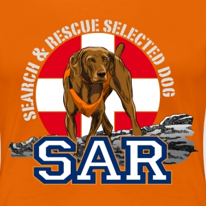 search and rescue dog 1 T-Shirts - Women's Premium T-Shirt