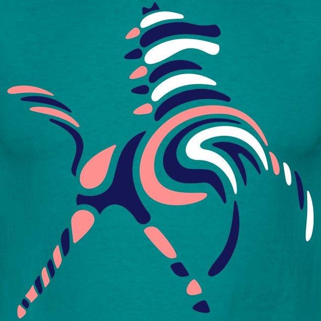 Wildes-Streifenpferd-Männer-T-Shirt