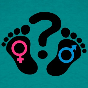 Question mark footprints feet icon girl boy T-Shirts - Men's T-Shirt