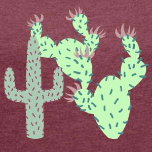 Cactus T-Shirts - Women's T-shirt with rolled up sleeves