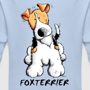 Happy Fox terrier Baby Bodysuits - Longlseeve Baby Bodysuit
