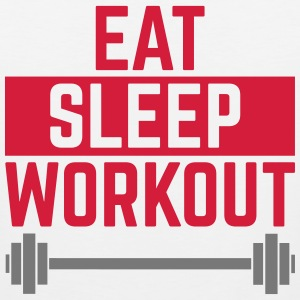 Eat Sleep Workout  Tanktops - Mannen Premium tank top