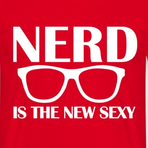 Nerd is the New Sexy RED - Men's T-Shirt